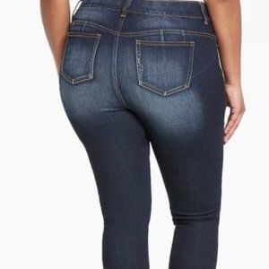 Torrid Stretch Denim Skinny Dark Jeans Size 22R